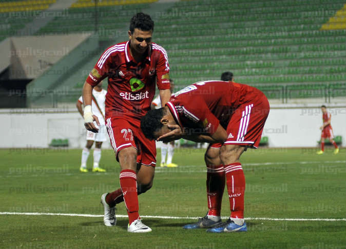 Mixed Emotions: El-Sayed Hamdy cries after scoring against Al Ragaa.