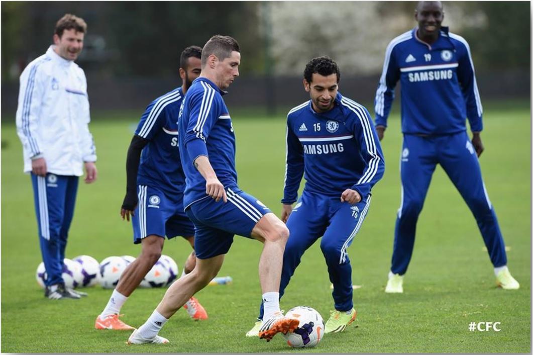 Salah - Chelsea training