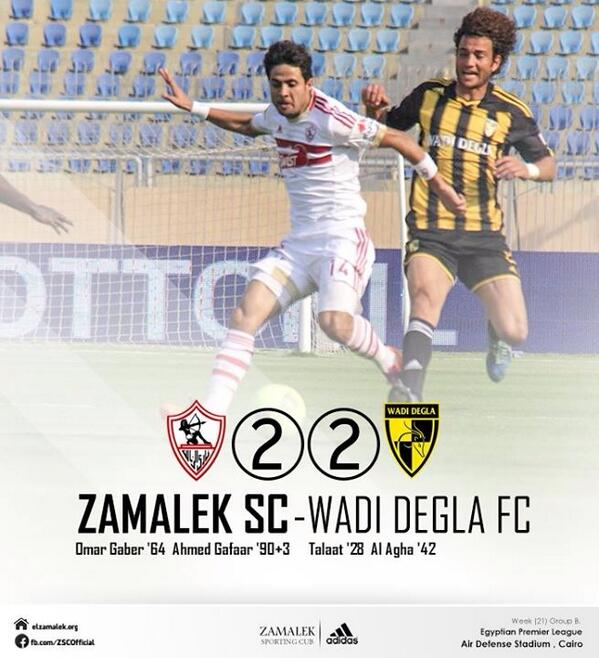 Zamalek 2-2 Wadi Degla