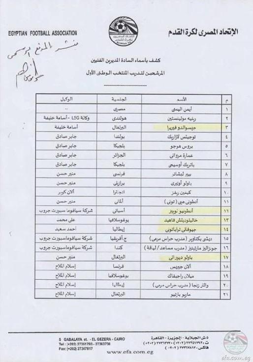 EFA shortlist