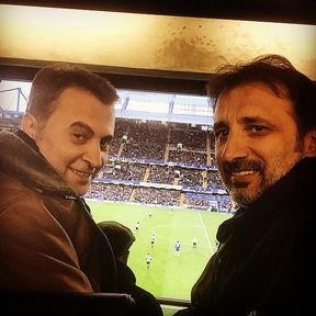 Fikret Orman attending the Newcastle - Chelsea game
