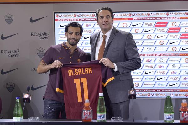 Mohamed Salah - AS Roma unveiling