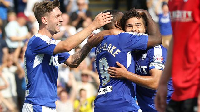 Sam Morsy celebrates after scoring against Barnsley. Photo: Chesterfield official website.