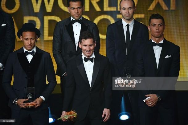 Neymar, Lionel Messi, Cristiano Ronaldo - Ballon d'Or