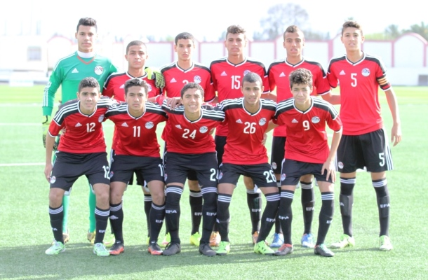 Egypt U-17's starting line-up in a friendly against Algeria