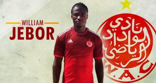 Wydad Casablanca sign Liberian striker William Jebor