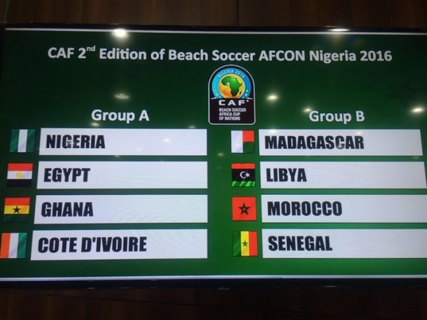 Beach Soccer Draw