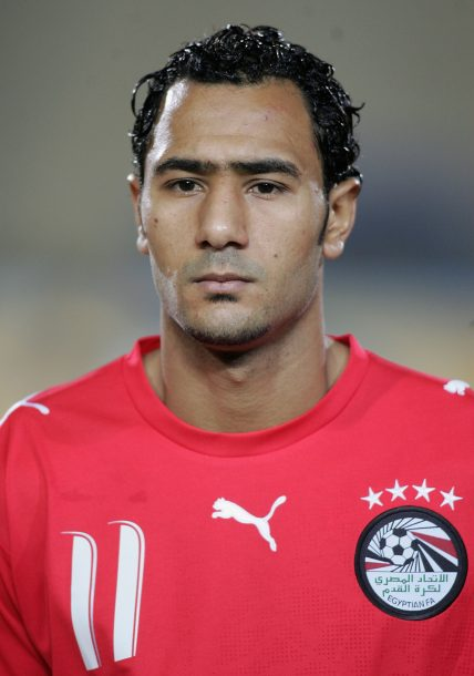 CAIRO, EGYPT - FEBRUARY 3: Shawky Aly Abou Elyazid of Egypt prior to The African Cup of Nations, Quarter Final match between Egypt and Congo at The Cairo International Stadium on February 3, 2006 in Cairo, Egypt. (Photo by Ben Radford/Getty Images)