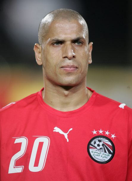 CAIRO, EGYPT - FEBRUARY 3: Gomaa Kamel Elhaawty Wael of Egypt prior to The African Cup of Nations, Quarter Final match between Egypt and Congo at The Cairo International Stadium on February 3, 2006 in Cairo, Egypt. (Photo by Ben Radford/Getty Images)