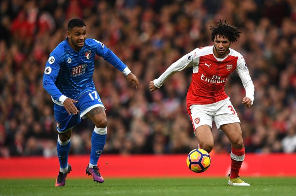 Elneny features in Arsenal league win against Bournemouth