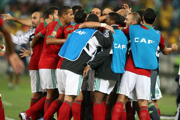 Morocco's players reactions following Egypt defeat