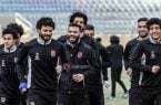 Emad Meteb and Hossam Ghaly in Al Ahly training