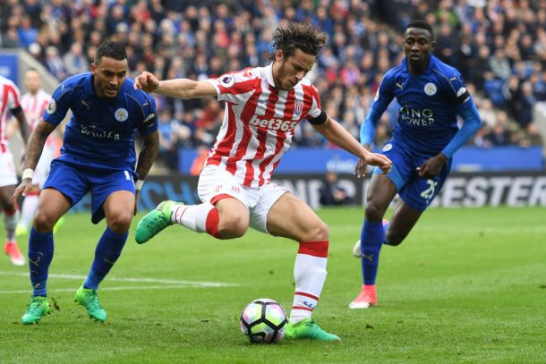 Ramadan Sobhi features in Stoke's loss to Leicester