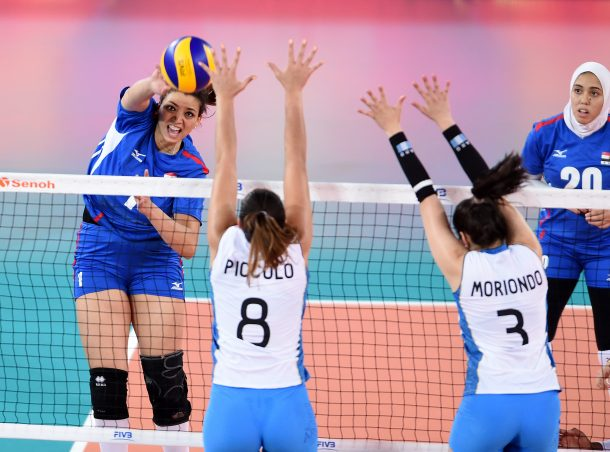 Argentina beat egypt volleyball
