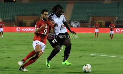 Uganda's Hassan Wasswa and Al Ahly's Amr El-Sulaya in 1-1 draw