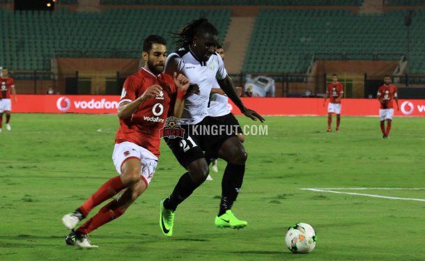 Uganda's Hassan Wasswa and Al Ahly's Amr El-Sulaya in 1-1 draw