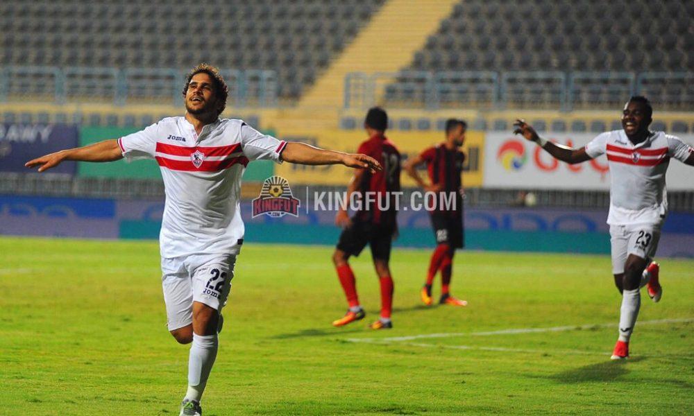 Zamalek new signing Abdallah Gomaa scores against Dakhleya