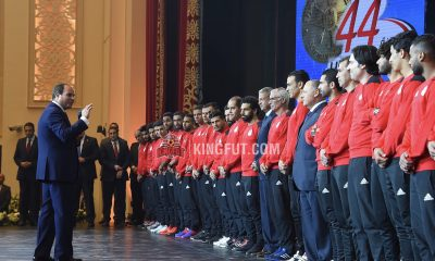 Egypt President El-Sisi with national team
