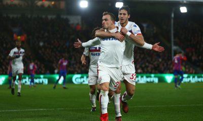 Stoke City Ramadan Sobhi and Shaqiri Crystal Palace v Stoke City - Premier League