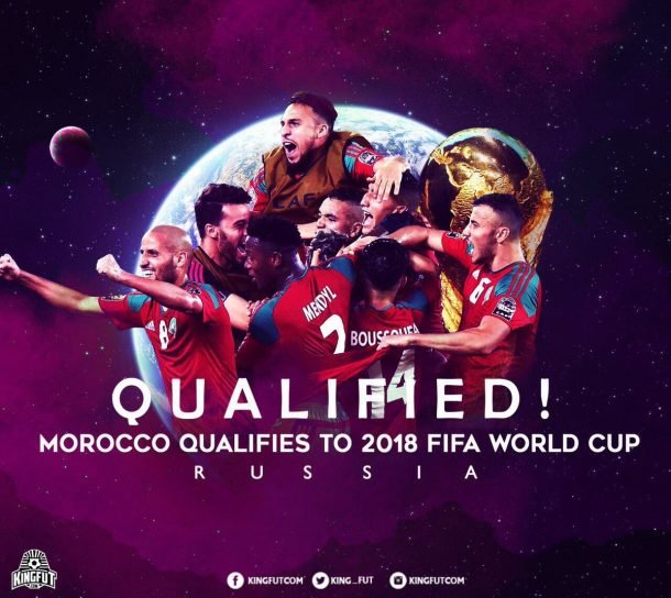 Morocco is qualified for the 2018 FIFA World Cup in Russian Federation