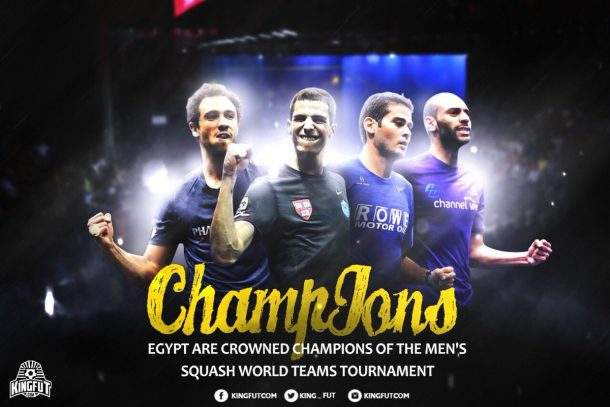 SQUASH: Egypt beat England to lift World Team Championships title