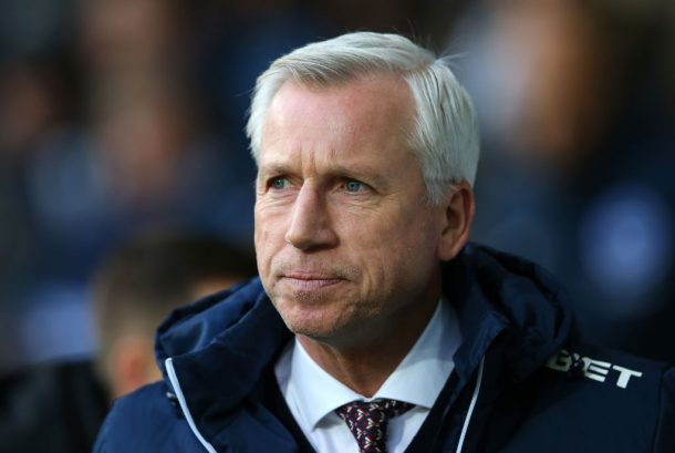 WEST BROMWICH, ENGLAND - JANUARY 13: Alan Pardew, Manager of West Bromwich Albion looks on prior to the Premier League match between West Bromwich Albion and Brighton and Hove Albion at The Hawthorns on January 13, 2018 in West Bromwich, England.