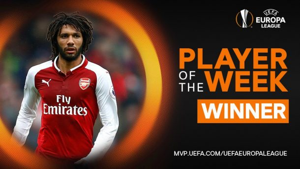 Mohamed Elneny named Europa League Player of the Week