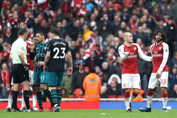 Arsene Wenger 'surprised' by Mohamed Elneny's red card