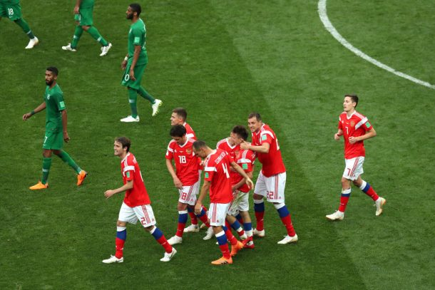 Russian Federation on brink of knockout stage after 3-1 win over Egypt