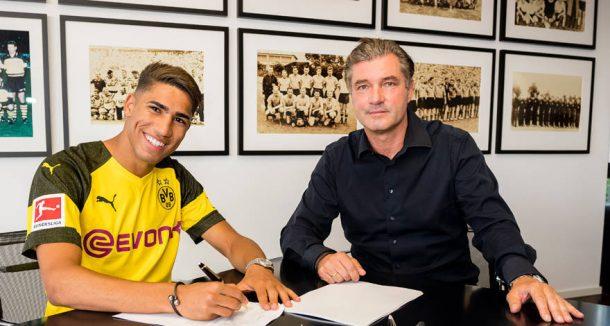 Achraf Hakimi joins Borussia Dortmund on two-year loan