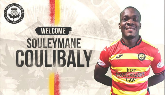 OFFICIAL: Souleymane Coulibaly joins Partick Thistle FC