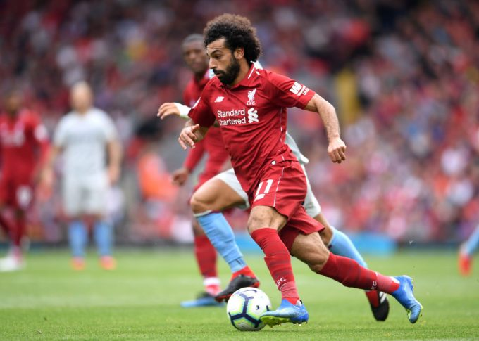 Salah scores in Liverpool's 4-0 win against West Ham United