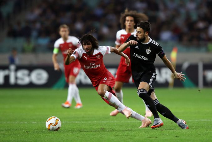 Mohamed Elneny features in Arsenal's victory over Qarabag FK