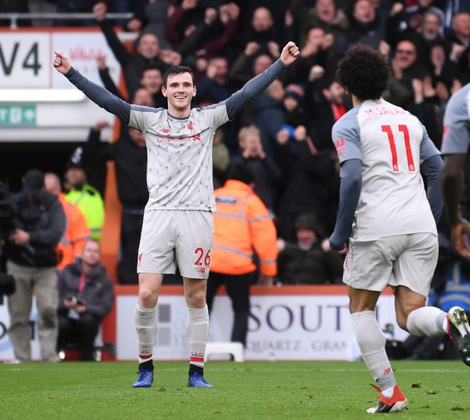 Liverpool's Andy Robertson praises Alisson after blunder against Man United