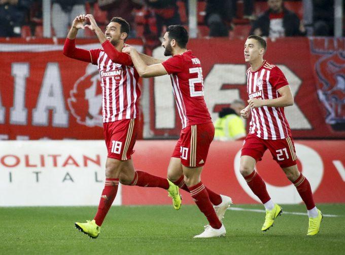 VIDEO: Kouka scores as Olympiacos run riot against Panionios