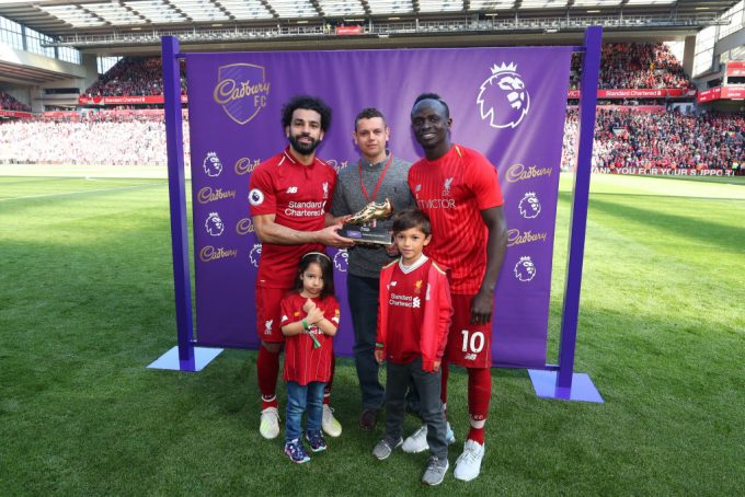 Mohamed Salah shares Golden Boot award with Mane, Aubameyang